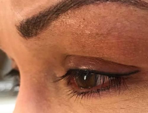 Wenkbrauwen microblading, bijwerken eyeliner